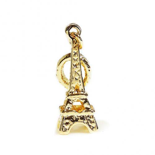 Berloque Folheado Ouro 18k Torre Eiffel