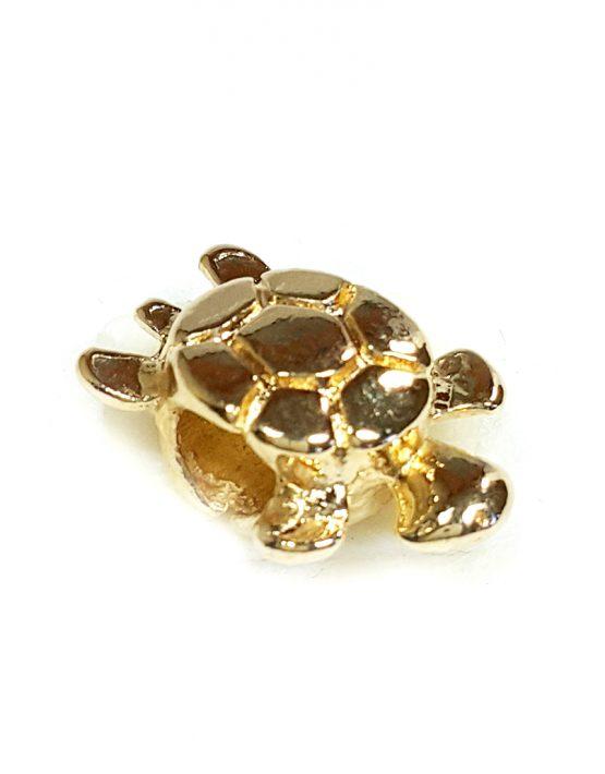 Berloque Folheado Ouro 18k Tartaruga