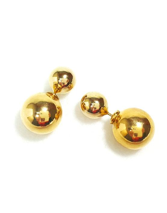 Brinco Folheado Ouro 18k Inspired Dior