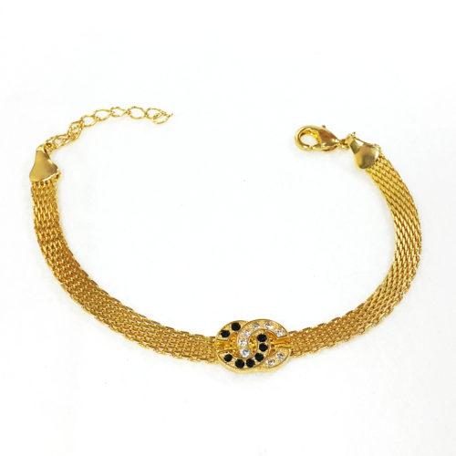 Pulseira Folheada Ouro 18K e Zircônias Chanel Inspired