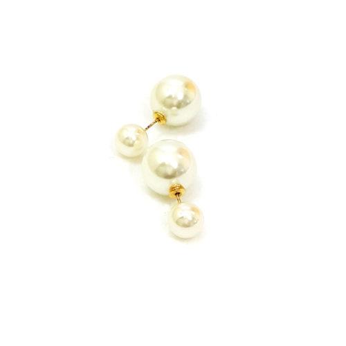 Brinco Folheado Ouro 18k Dior Inspired Pérola Shell