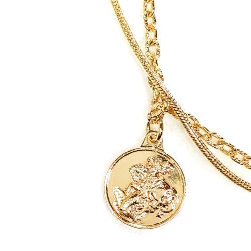 Pulseira Folheada Ouro 18K e detalhe Medalha São Jorge