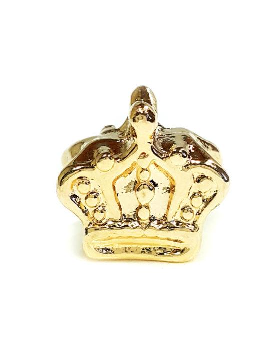 Berloque Folheado Ouro 18k Coroa