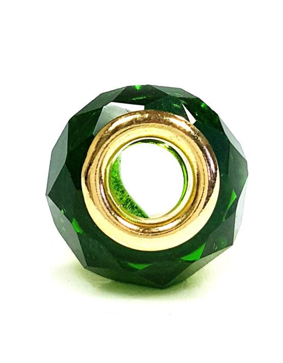 Berloque Folheado Ouro 18k Separador Verde