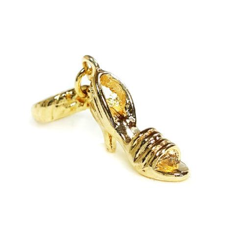 Berloque Folheado Ouro 18k Sandália de salto