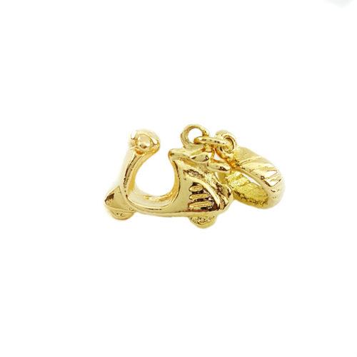 Berloque Folheado Ouro 18k Lambreta