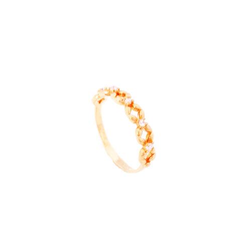 Anel folheado ouro 18K Tiffany Inspired