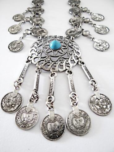 Maxi Colar Medalhas Turca Bijuteria