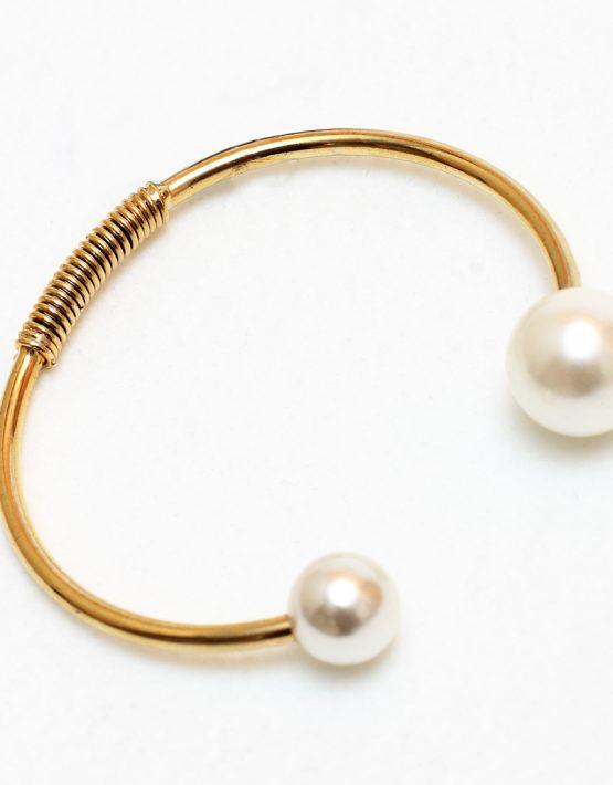 Pulseira folheada ouro 18K e Perólas Shell Dior Inspired